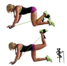 Resistance bands leg workout Click on pin to see some great tips and ideas on burning fat and building muscle.