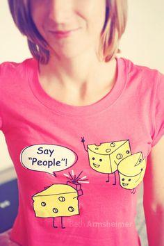 "say ""people!"""