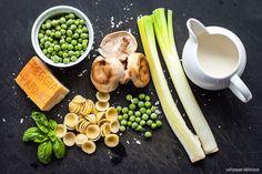 Orecchiette Pasta + Shiitake Mushrooms + English Peas   saltpepperskillet.com @spskillet
