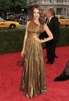Jessica Alba at the Met Gala 2012 #style #redcarpet #harpersbazaar #fashion #partysnaps #jessicaalba