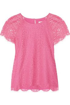 j.crew pink lace top