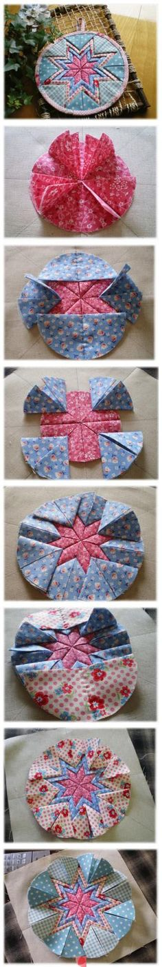 fold star, craft, circl, christmas tree star quilt, quilted ornament tutorial, star quilts, folded star ornament, christmas trees, quilt wall hanging tutorials