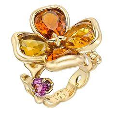 CHANEL Gem-Set Clover Dress Ring