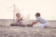 Image of TODDLER Woodsy Wonders  ORIGINAL Huck Finn / Tom Sawyer Rustic Raft with Muslin Sails Photo Prop