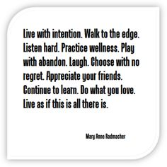 Live with intention... 1001 inspir, favorit quot, cuti patooti