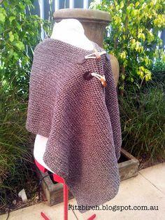 FitzBirch Crafts: Asymmetrical Easy Crochet Poncho - free pattern