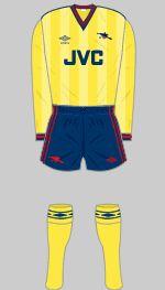 1983-1986 Arsenal Kit