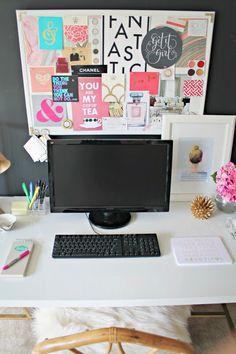 apart live, offic inspir, bulletin boards, small offices, inspiration boards, office inspiration board, desk, inspir board, home offices