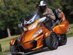 2014 Can-Am Spyder Roadster RT First Ride - MotoUSA