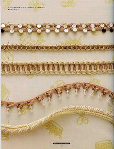 bead crochet edgings with chart