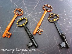 Unique necklaces crafted from vintage skeleton keys by merrytreasure on Etsy, $20.00