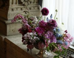 early spring blues and purples :: our inspiration for the overall design of the wedding