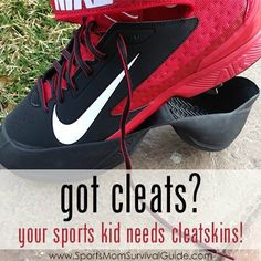 Have your heard of Cleatskins? If your kids are in a sport that requires cleats, you should really check out this product!!