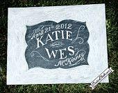 Wedding chalkboard art - wedding chalk board - wedding sign- custom chalkboard