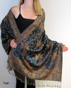 The Fashion Designer Pashmina Shawls Wraps & Scarves come from manufacturers in India and Nepal available in many colors. Huge sale for women that like unique classy accessories.