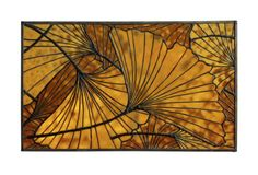 Leaves: Ginkgo, Fall and Spring, stained glass by... | Wallace Gardens