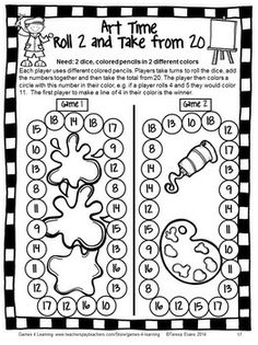 Back to School Math Games Third Grade by Games 4 Learning - This collection of back to school math games contains 14 printable games that review a variety of second grade skills.