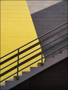 Grey and Yellow Stairs