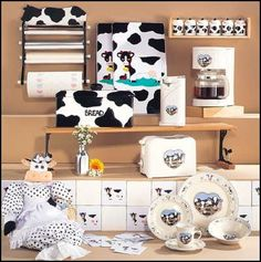 I want a cow themed kitchen