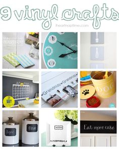 9 vinyl craft ideas for your home