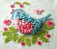 felt birdie