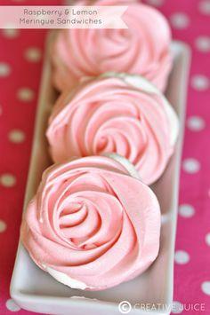 {RECIPE} raspberry & lemon meringues - Creative Juice