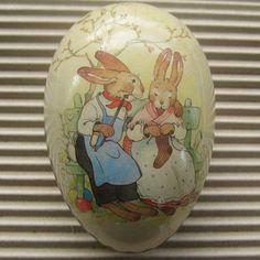 Vintage Germany Papier Paper Mache Egg Container Box Decoration 3.5 Inch decor egg