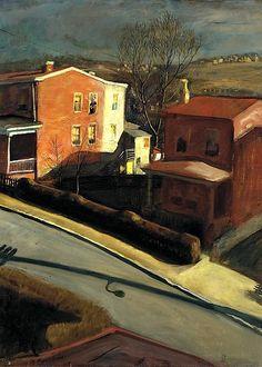 american 1896, franci speight, late afternoon, fine art, paint, artist, light, 1931, pennsylvania academi