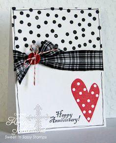 happy anniversary, anniversari card, valentine day, color combos, white polka, polka dotsso, color combinations, black white red, anniversary cards