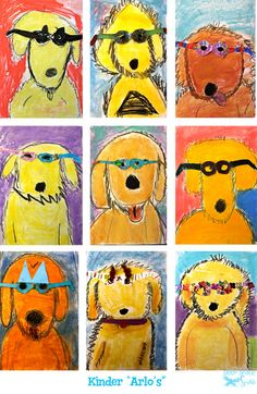 How cute are these Kindergarten renditions of Arlo?!