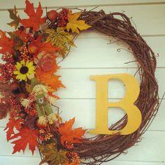Fall Wreath...so easy to make!