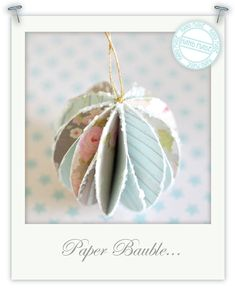Pretty paper baubles by Torie Jayne pretti paper, christmas cards, christmas deco, christmas tree decorations, paper ornaments, diy ornaments, paper baubl, christmas ornaments, christmas trees