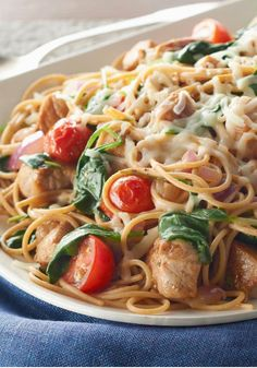 "Smart Pork-Pasta Toss – ""Better for you"" can be both easy and delicious! Bonus: This recipe is ready for the dinner table in less than 30 minutes."