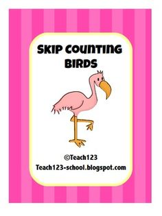 calendar time, count bird, bulletin board, math centers, skip counting, count freebi, educ, classroom ideas, birds