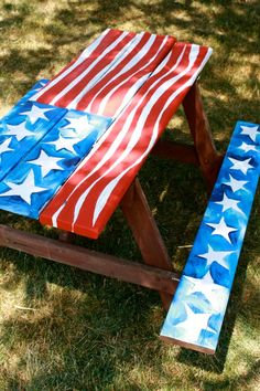 Patriotic Picnic Table