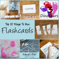 Top 10 Ways to Use Flashcards - 3Dinosaurs.com