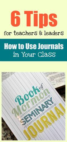 Using scripture study journals