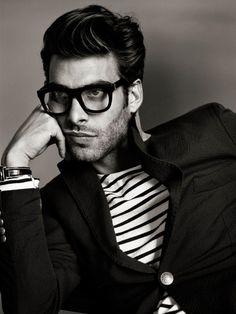 men styles, jon kortajarena, glasses, gq franc, men cloth, men fashion, blazers, stripes, hair