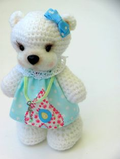 Craft House: Knitted bear. Master class. Description. Free pattern #crochetpattern #crochet