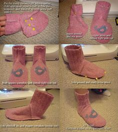 felted wool sweater slipper socks...Have the pattern made and sweater felted now to find time to cut and sew :)