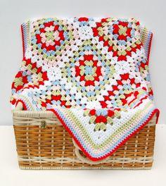 Color inspiration - Crochet Baby Blanket Granny Square Crochet Baby by HopscotchLane