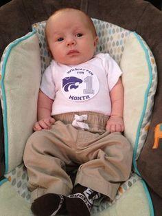 Kansas State University KSU Wildcat Baby Monthly by HornMart