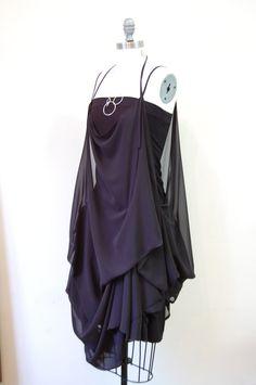 Sheer Black Chiffon Dress. $320.00, via Etsy.