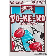 Bicycle Pokeno Card Game: Po-ke-no Board Game includes all you need for the basic game and several exciting variations! This great game combines the thrill of poker with the suspense of Keno.  $9.99  http://www.calendars.com/Card-Games/Bicycle-Pokeno-Card-Game/prod1279155/?categoryId=cat430010=cat430010#