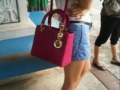 Magenta Lady Dior x Polo Ralph Lauren shorts