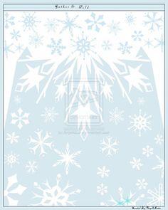 Frozen Disney Elsa Snow Queen Pattern Cape Design by AngelicLuka