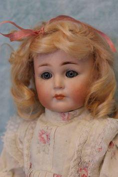 "Antique 12"" K*R 117 Mein Liebling DollBlue sl. eyes Orig body Mohair wig & Dress"
