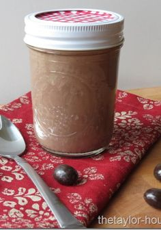 Homemade Peppermint Mocha Coffee Creamer that only requires a couple simple ingredients.