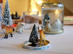 Christmas craft party and how to make little snow globes