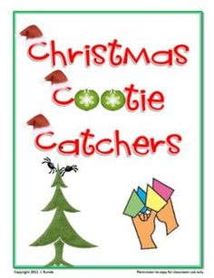 Christmas cootie catchers This file contains 6 different cootie catchers with a Christmas theme: Christmas jokes, Winter Jokes, Musical Next Lines, 12 Days of Christmas, Movie Trivia, and Christmas Trivia. The file also contains a blank template for making your own cootie catcher (a perfect activity for test review questions).